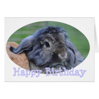 Tarjeta de cumpleaños del conejo