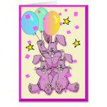 Tarjeta de cumpleaños del conejo de conejito