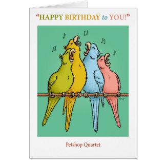 Tarjeta de cumpleaños del cuarteto de Petshop