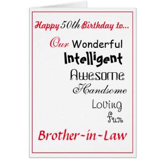 tarjeta de cumpleaños del cuñado. 50.o male.boys