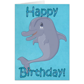 Tarjeta de cumpleaños del delfín
