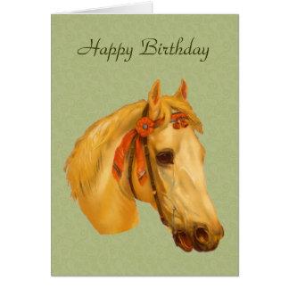 Tarjeta de cumpleaños del dibujo de la cabeza de c