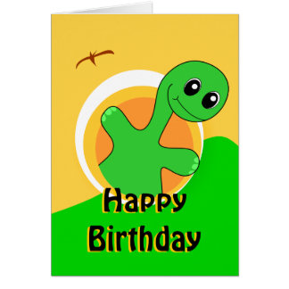 Tarjeta de cumpleaños del dinosaurio