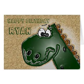 tarjeta de cumpleaños del dinosaurio 3D