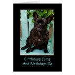 Tarjeta de cumpleaños del dogo francés divertida