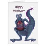 tarjeta de cumpleaños del dragón