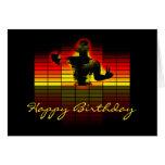 tarjeta de cumpleaños del ecualizador gráfico - cu