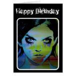"""tarjeta de cumpleaños """"del fantasma ahogado"""""""