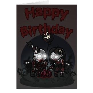 Tarjeta de cumpleaños del fiesta 2011 del zombi
