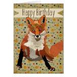 Tarjeta de cumpleaños del Fox rojo