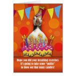 Tarjeta de cumpleaños del frailecillo de la divers