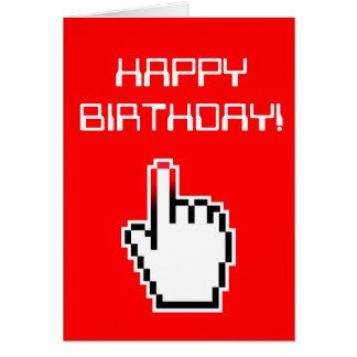 Tarjeta de cumpleaños del friki del ordenador