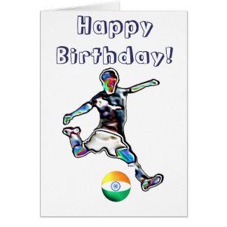 Tarjeta de cumpleaños del fútbol del fútbol de la