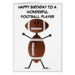Tarjeta de cumpleaños del futbolista
