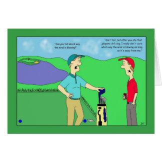 Tarjeta de cumpleaños del golf del perro de chile