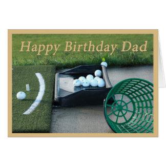 Tarjeta de cumpleaños del golf para el papá