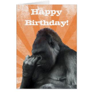 Tarjeta de cumpleaños del gorila