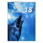 Tarjeta de cumpleaños del grito del lobo del