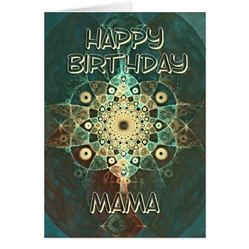 Tarjeta de cumpleaños del grunge del fractal para
