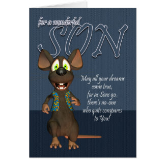 Tarjeta de cumpleaños del hijo - con el ratón enrr