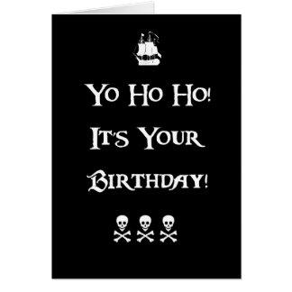 Tarjeta de cumpleaños del humor del pirata