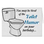Tarjeta de cumpleaños del humor del retrete