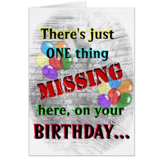 Tarjeta de cumpleaños del interno