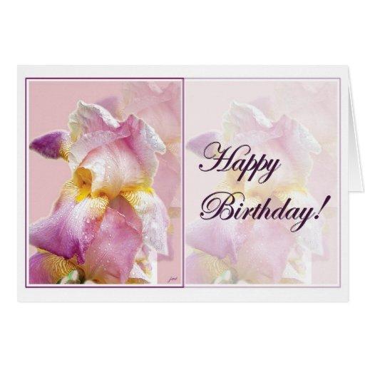 Tarjeta de cumpleaños del iris