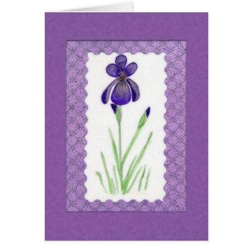 Tarjeta de cumpleaños del iris (ampliación de foto