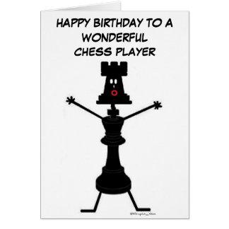 Tarjeta de cumpleaños del jugador de ajedrez