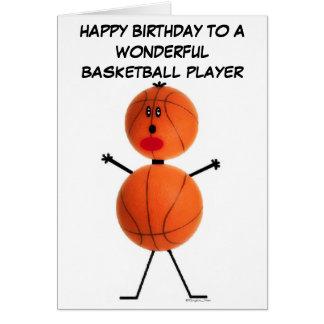 Tarjeta de cumpleaños del jugador de básquet