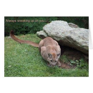 tarjeta de cumpleaños del león de montaña