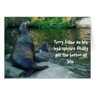 tarjeta de cumpleaños del león marino
