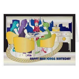 Tarjeta de cumpleaños del Mah Jongg Nueva York