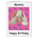 Tarjeta de cumpleaños del mam de la momia de la mo