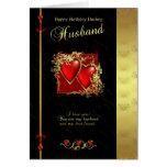 Tarjeta de cumpleaños del marido - marido del feli