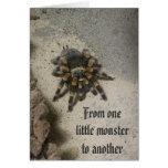Tarjeta de cumpleaños del monstruo del Tarantula