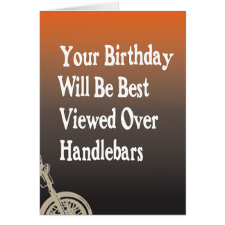 Tarjeta de cumpleaños del motorista de la