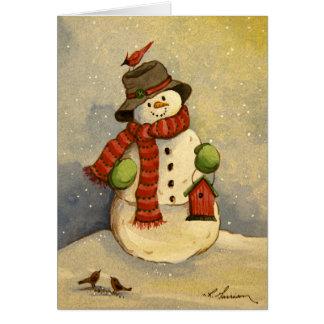 Tarjeta de cumpleaños del muñeco de nieve 4905 y d
