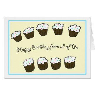Tarjeta de cumpleaños del negocio de Group Company