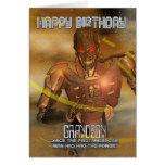 Tarjeta de cumpleaños del nieto con el Cyborg - ro