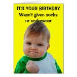 Tarjeta de cumpleaños del niño del éxito