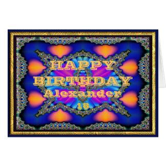 Tarjeta de cumpleaños del nombre y de la edad