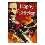 Tarjeta de cumpleaños del oeste salvaje del arte p