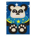 Tarjeta de cumpleaños del oso de panda