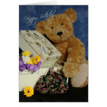 Tarjeta de cumpleaños del oso de peluche