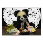 Tarjeta de cumpleaños del oso de peluche de la pan