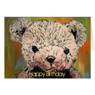 """Tarjeta de cumpleaños """"del oso de peluche malvado"""""""