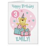 Tarjeta de cumpleaños del oso de peluche - modific
