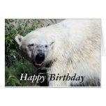 Tarjeta de cumpleaños del oso polar